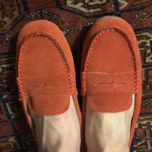 Gap loafers. Red suede women's size 8